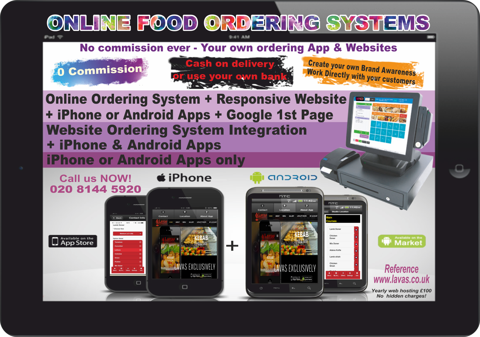 online food ordering system for take away and restaurants